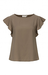 House of Bruar Ladies Matt Satin Effect T-Shirt