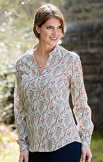 Ladies Liberty Open Collar Shirt