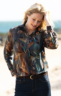 Ladies Falling Feathers Blouse