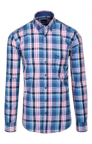 Men's Large Plaid Check Shirt