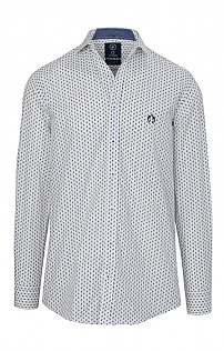 Claudio Campione Long Sleeve Cotton Print Shirt
