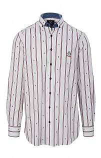 Claudio Campione Long Sleeve Stripe/Boat Shirt