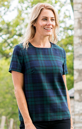 Ladies Plaid T-Shirt