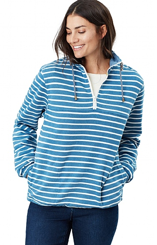 Joules Bewley Salt Half Zip Sweatshirt