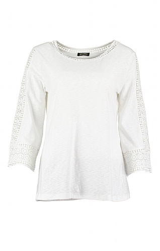 Pomodoro Lace Sleeve Top