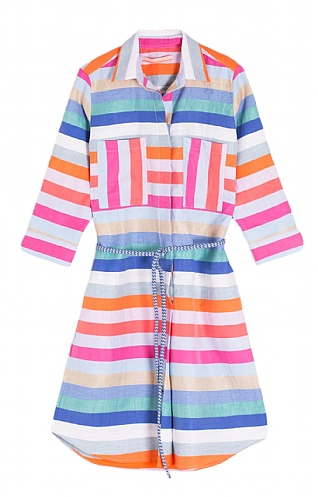 Ladies Multi Stripe Linen Dress