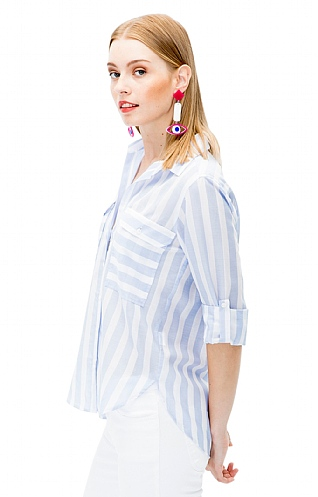 Vilagallo Wide Stripe Overshirt