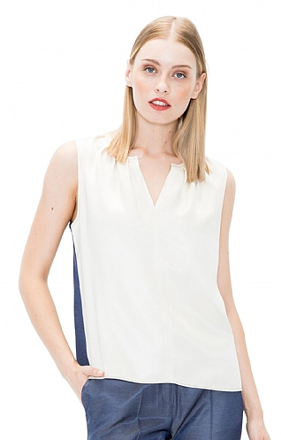 Vilagallo Sleeveless Two Colour Top