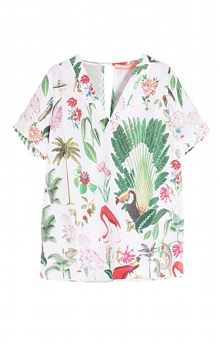 Vilagallo Short Sleeve Cotton Flamingo T-shirt