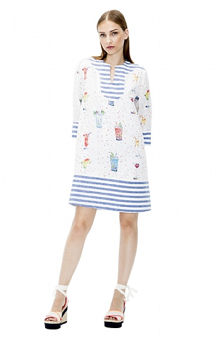 Vilagallo Happy Hour Linen Dress