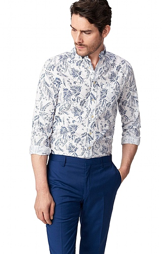 Gant Leaf Print Cotton Shirt