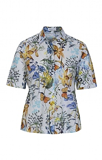 Erfo Butterfly Short Sleeve Blouse