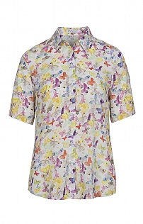 Erfo Short Sleeve Butterfly Blouse