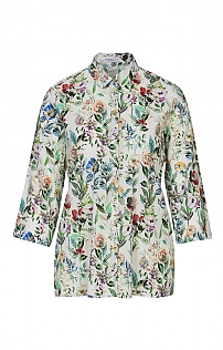 Erfo Three Quarter Sleeve Floral Tunic