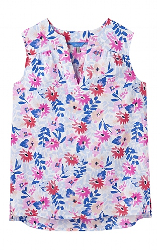 Joules Juliette Print V Neck Top