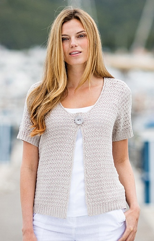 Marble Button Stitch Cardigan