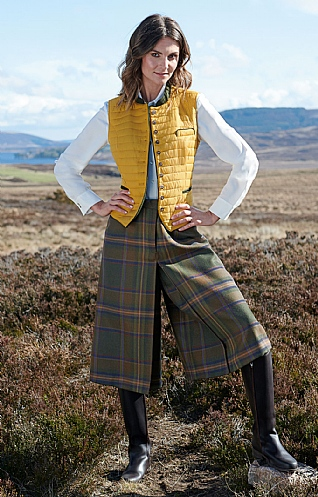 Plaid Tapered Culottes