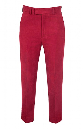 House of Bruar Moleskin Trousers - Garnet red