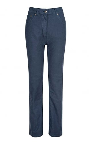 House of Bruar Ladies Moleskin Jeans - Ancient Blue