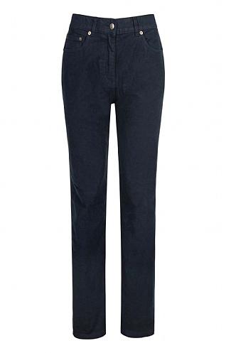 House of Bruar Ladies Moleskin Jeans - Navy Blue
