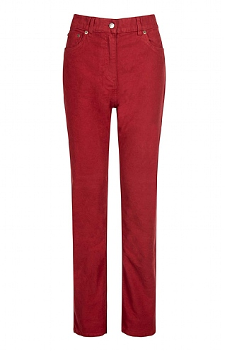 House of Bruar Ladies Moleskin Jeans - Red