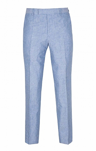 Men's Linen/Cotton Modern Fit Trousers