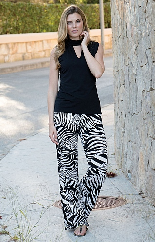 Marble Print Trousers