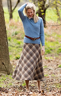 Harris Tweed Bias Skirt