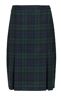 Plaid Invert Pleat Skirt