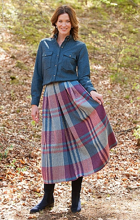 Tweed Soft Pleat Skirt