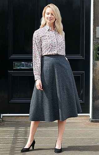 Flannel Swing Skirt