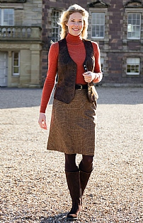 Classic Prince of Wales Tweed Skirt