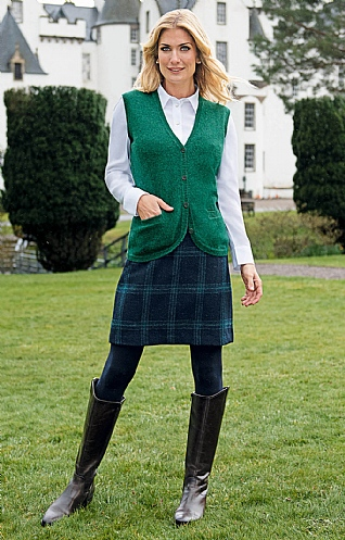 Modern Harris Tweed Skirt