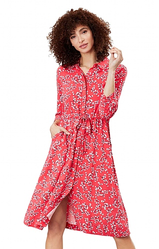 Joules Winslet Button Front Shirt Dress