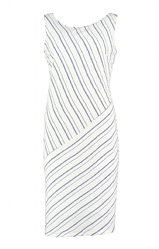 Pomodoro Linen Stripe Sleeveless Dress