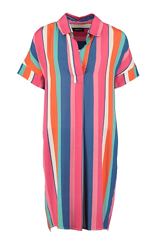 Pomodoro Candy Stripe Shirt Dress