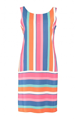 Pomodoro Candy Stripe Shift Dress