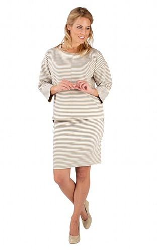 Stripe Skirt with Tie Waist