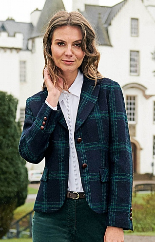 Ladies Modern Harris Tweed Jacket