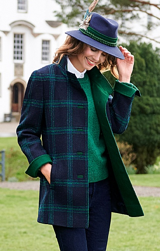 Trim Harris Tweed Coat
