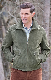 Mens Suede Blouson Jacket