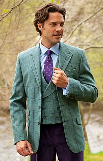 Mens Tweed Hacking Jacket