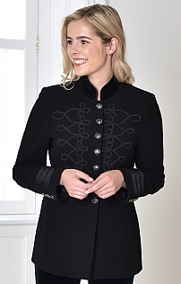 Boiled Wool Embossed Jacket