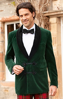 Moser Double Breasted Velvet Smoking Jacket