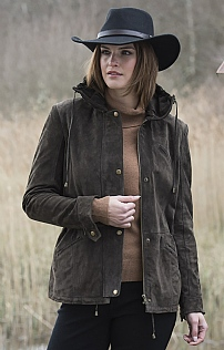 Ladies Suede Parka