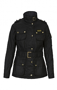 Ladies Barbour International Waxed Jacket