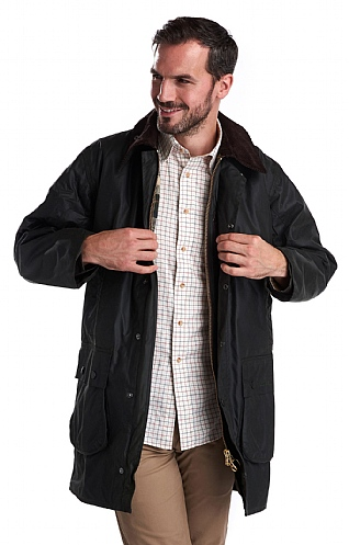 Mens Barbour Border Waxed Jacket