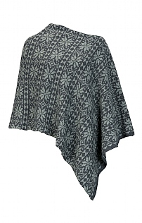 Lambswool and Silk Star Poncho