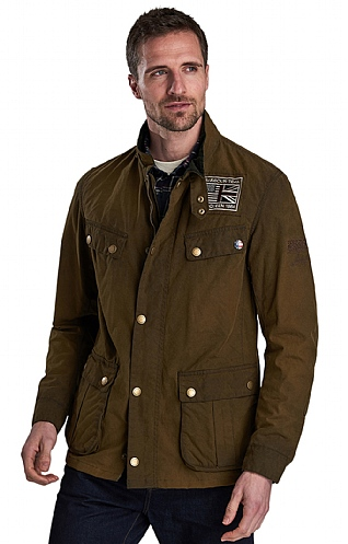 Barbour International Lester Washed Wax Jacket