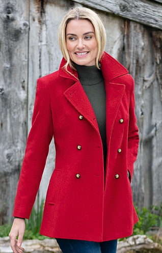 Wool and Cashmere Peacoat